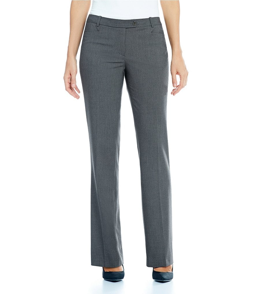 Calvin Klein Luxe Stretch Pinstripe Suiting Modern Fit Straight-Leg Pants