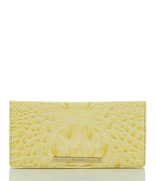 Brahmin Melbourne Collection Ady Croco-Embossed Wallet