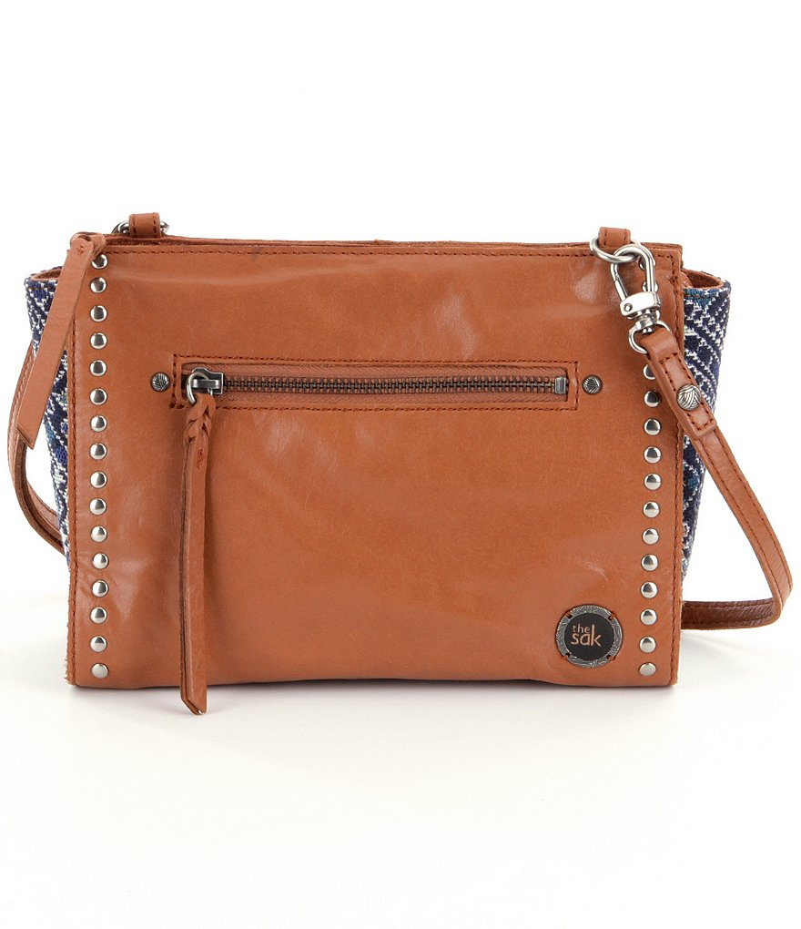 The Sak Cabrillo Demi Studded Tribal-Paneled Cross-Body Bag