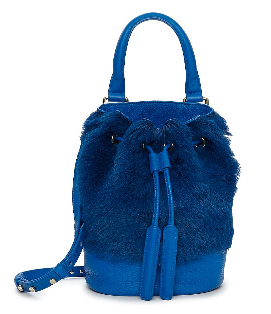 Luana Italy Theo Fur Mini Bucket Bag