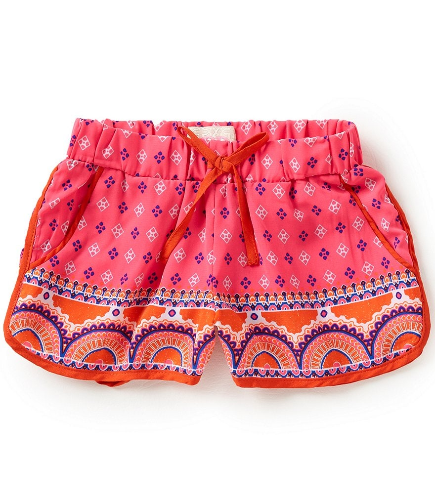 GB Girls Little Girls 4-6X Border Print Shorts