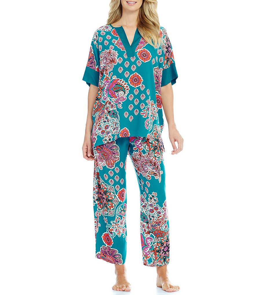 N by Natori Medallion-Print Pajamas