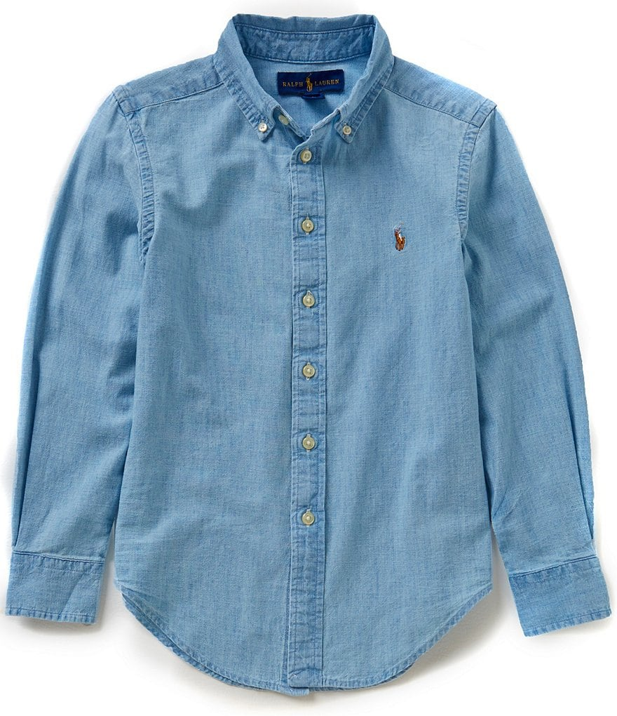 Ralph Lauren Childrenswear Big Boys 8-20 Chambray Long-Sleeve Shirt
