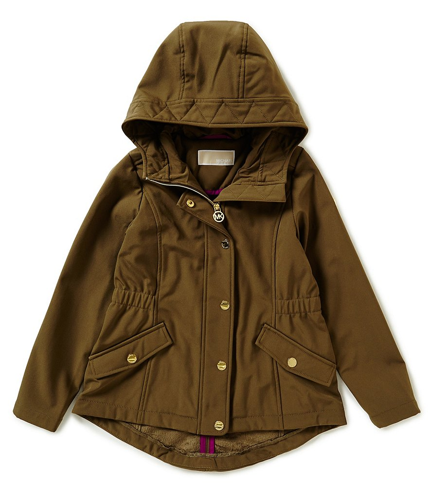 MICHAEL Michael Kors Big Girls 7-16 Hooded Soft-Shell Jacket