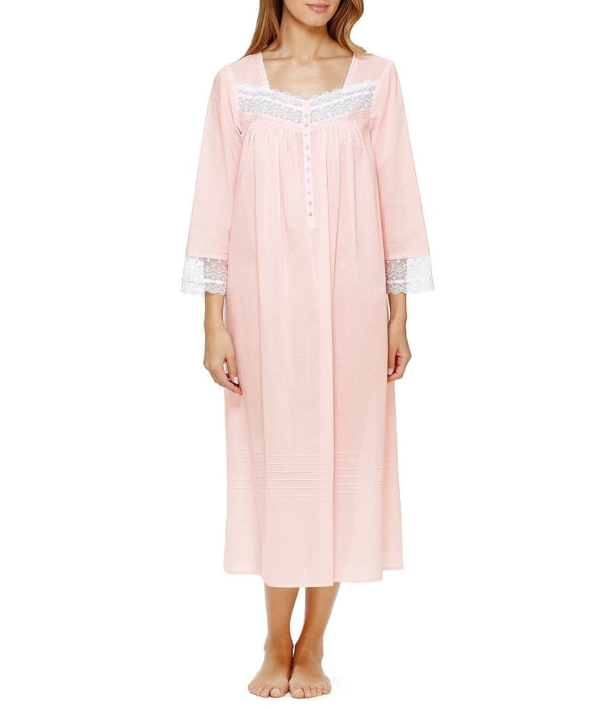 Eileen West Lace-Trimmed Cotton Lawn Ballet Nightgown