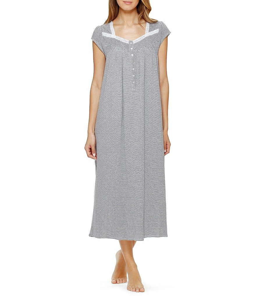 Eileen West Striped Jersey Ballet Nightgown