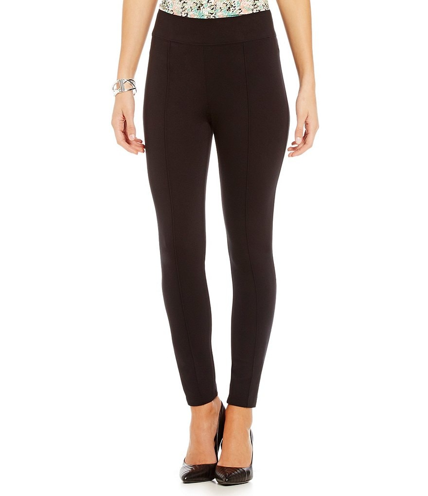 Tahari ASL Knit Straight-Leg Ankle Pants