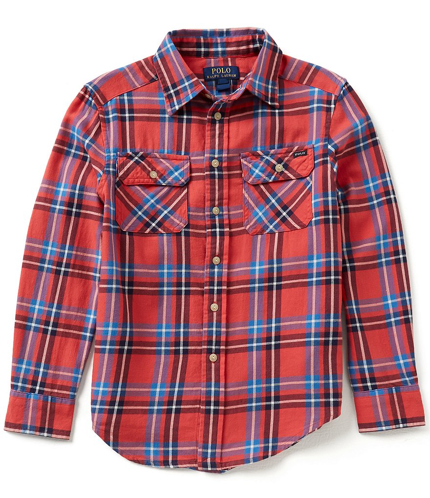 Ralph Lauren Childrenswear Big Boys 8-20 Plaid Work Shirt