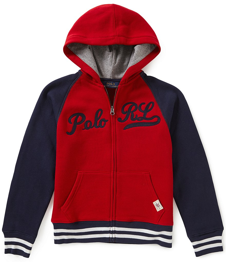 Ralph Lauren Childrenswear Big Boys 8-20 Baseball-Inspired Color Block Hoodie