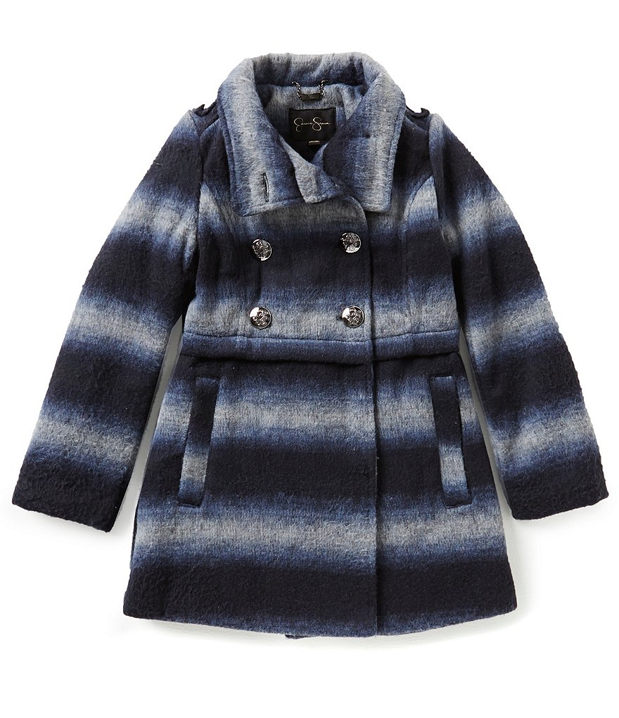 Jessica Simpson Big Girls 7-16 Ombre Wool Coat