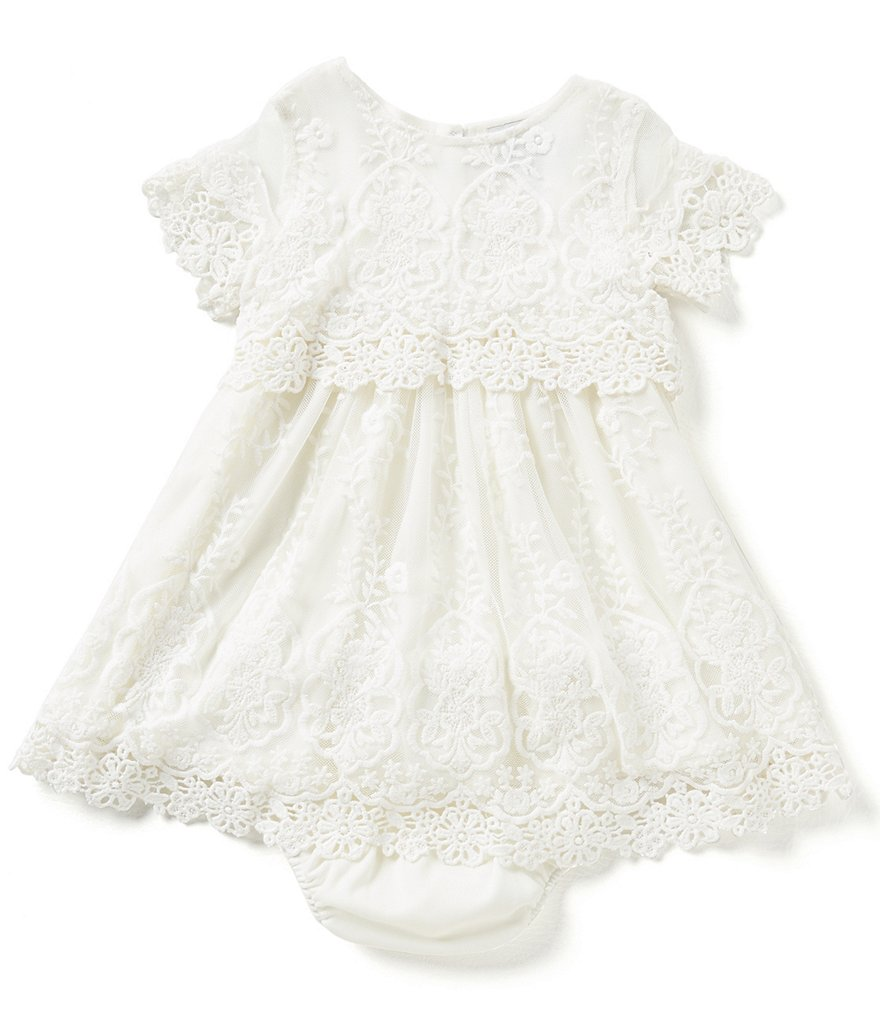 Rare Editions Baby Girls 12-24 Months Popover Lace Dress