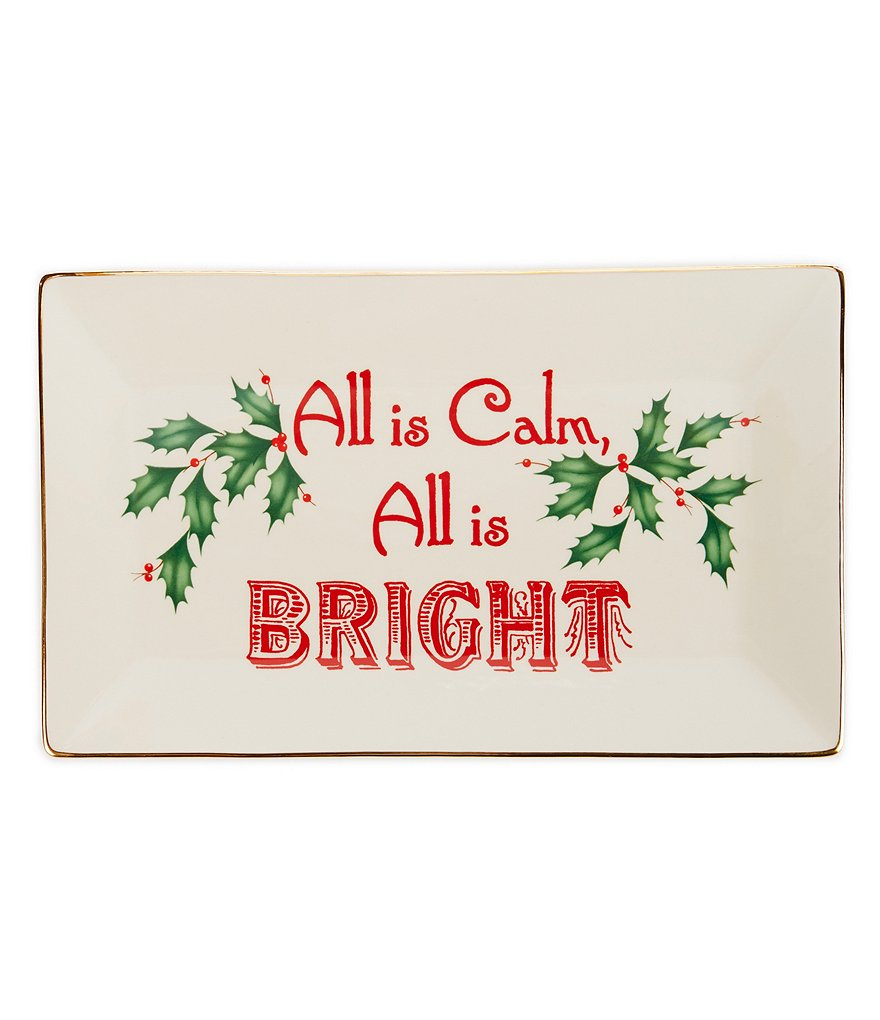 Lenox Home for the Holidays All is Calm, All is Bright Tray