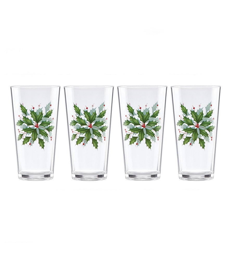 Lenox Holiday Tumbler, Set of 4