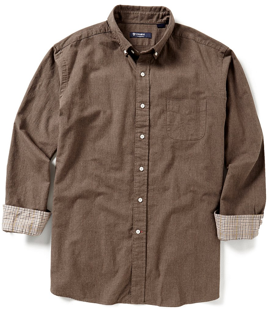 Cremieux Highland Peaks Collection Solid Woven Shirt