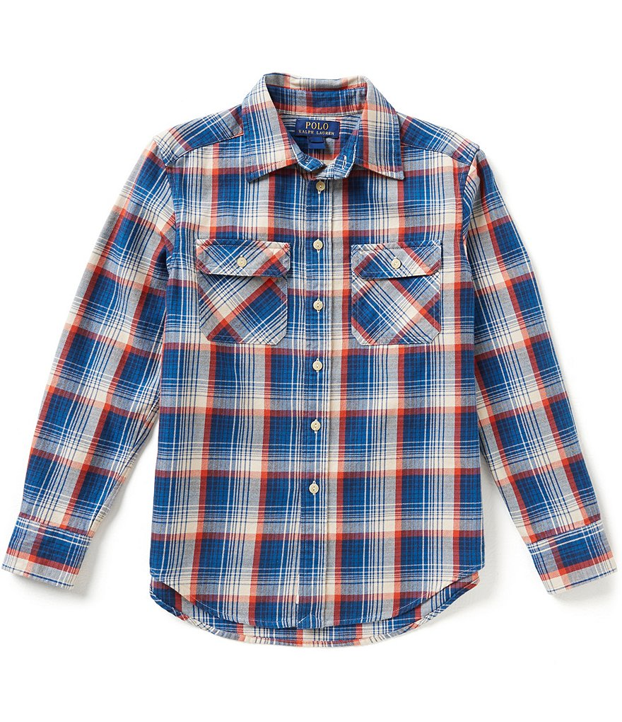 Ralph Lauren Childrenswear Big Boys 8-20 Plaid Twill Workshirt