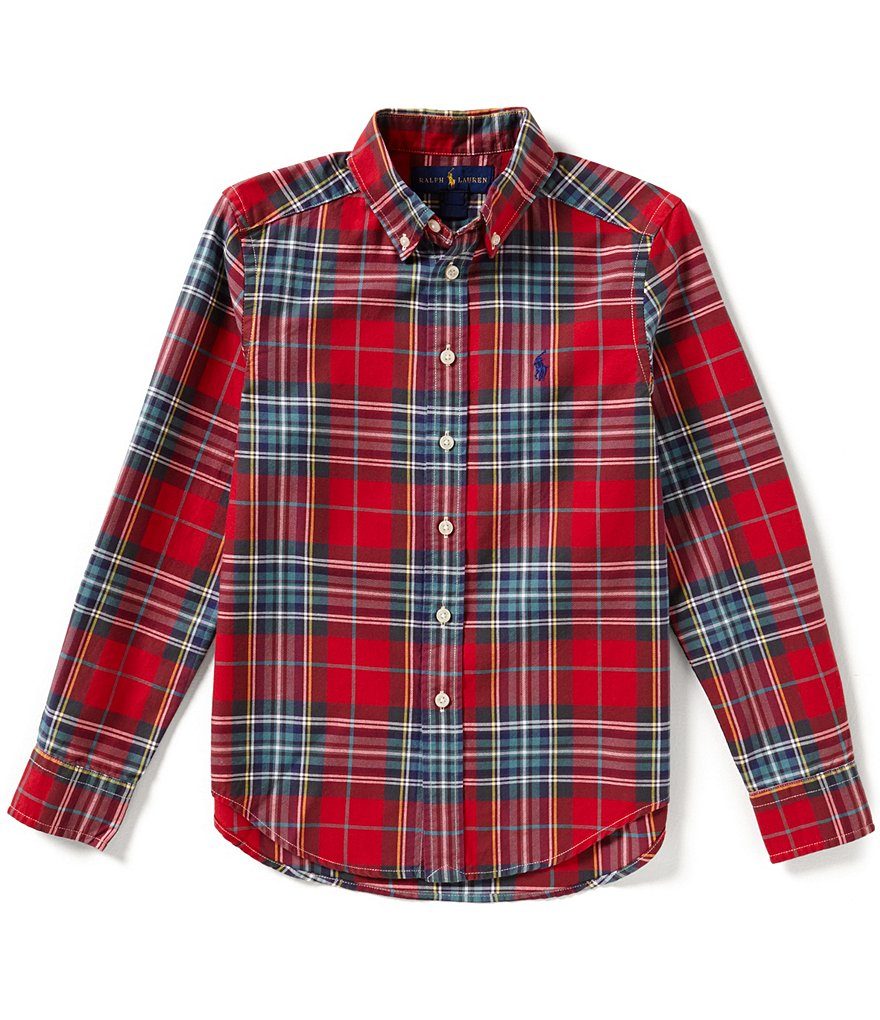 Ralph Lauren Childrenswear Big Boys 8-20 Plaid Poplin Shirt