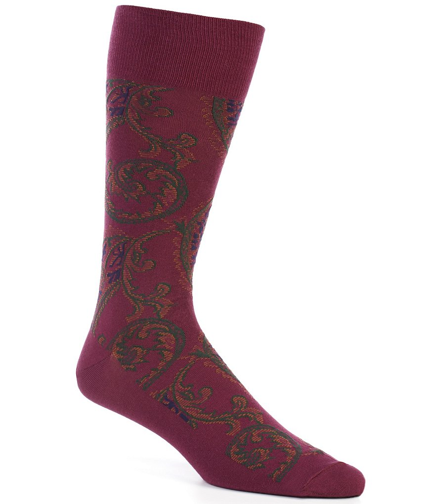 Polo Ralph Lauren Paisley Crew Dress Socks