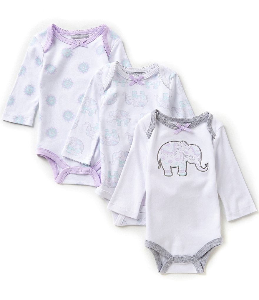 Wendy Bellissimo Baby Girls 3-9 Months 3-Pack Bodysuits