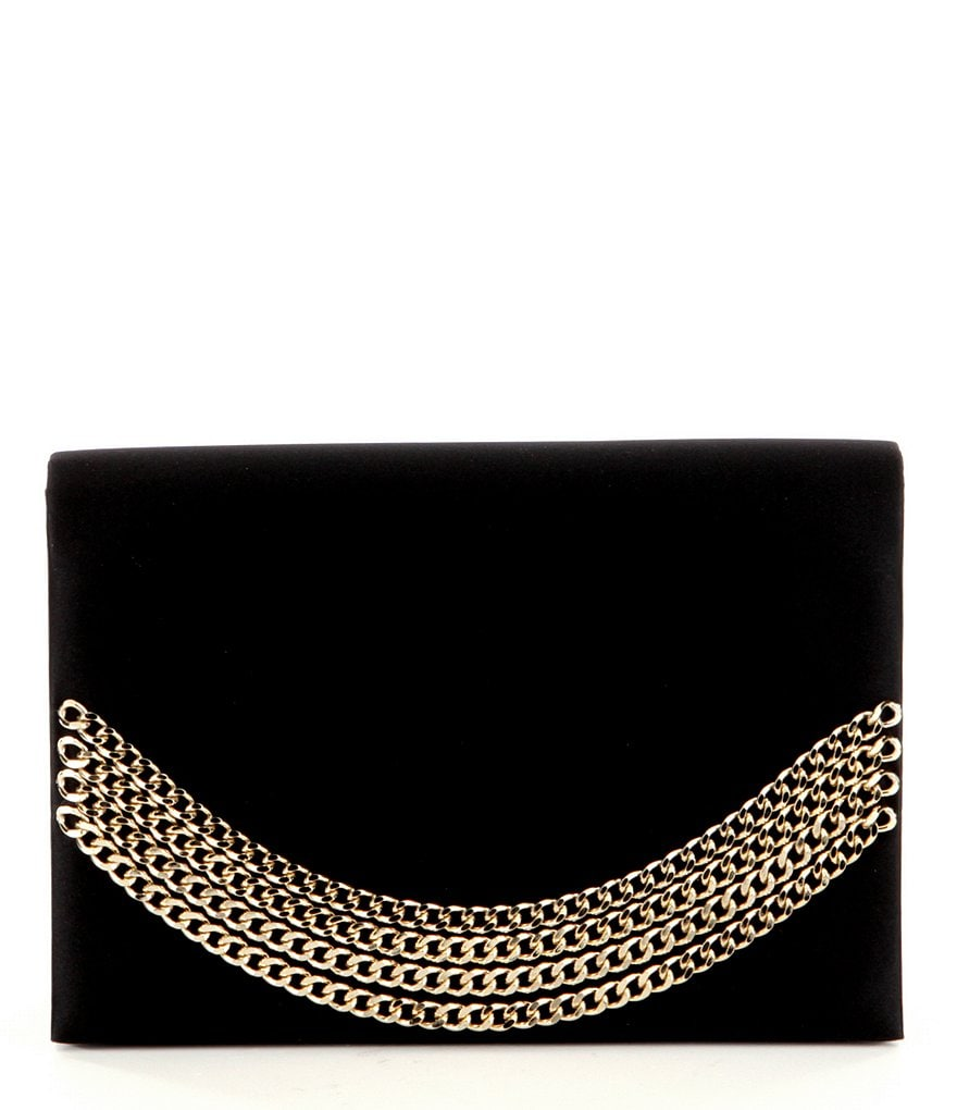 Kate Landry Satin Chain Flap Clutch