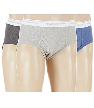 Roundtree & Yorke 3-Pack Low-Rise Assorted Briefs