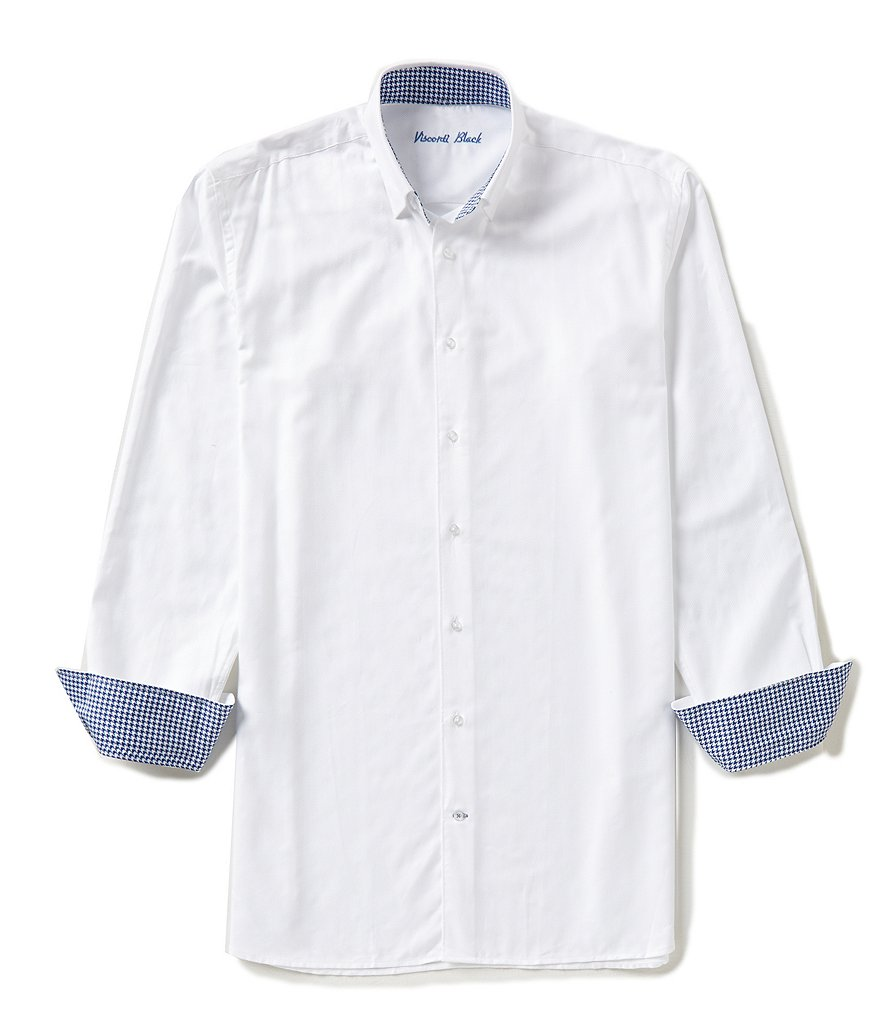 Visconti Big & Tall Textured Jacquard Long-Sleeve Woven Shirt