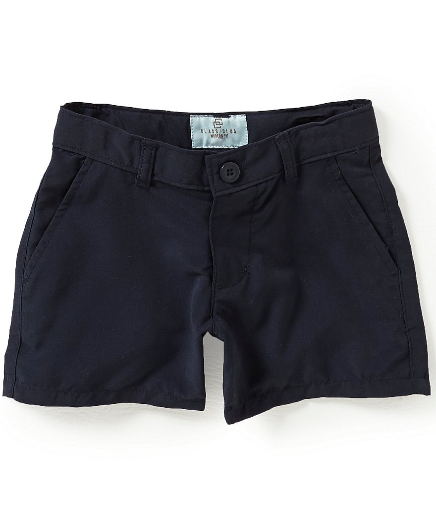 Class Club Little Boys 2T-7 Flat Front Shorts