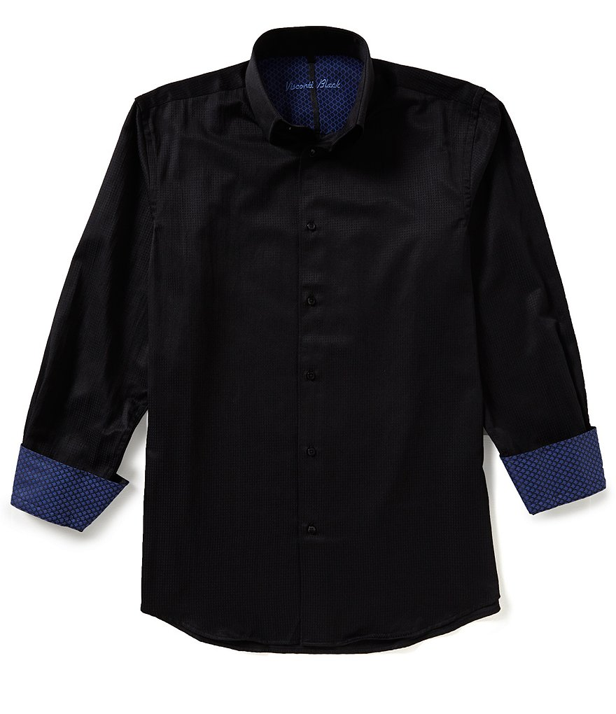 Visconti Big & Tall Textured Button Front Shirt