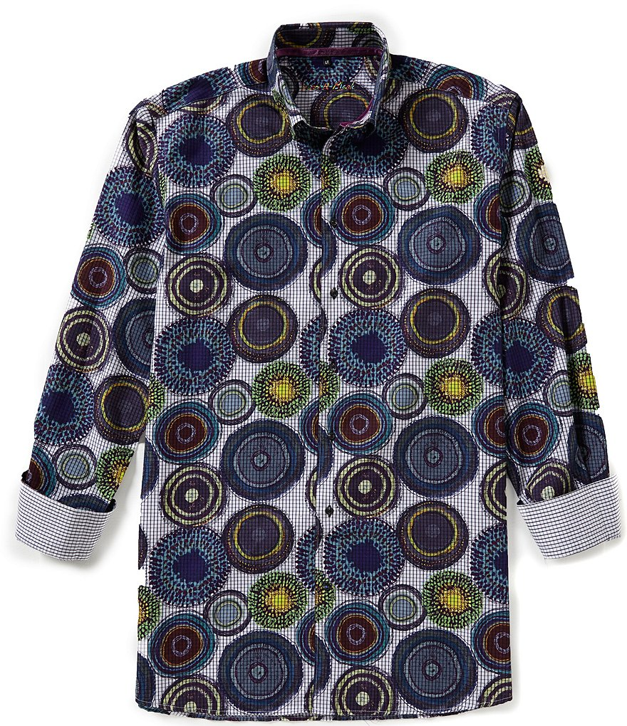 Visconti Big & Tall Circle-Print Shirt
