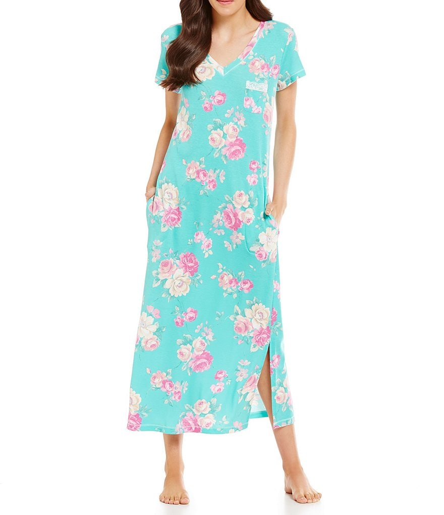 Miss Elaine Cottonessa Floral Nightgown