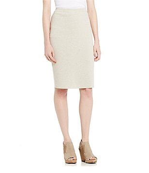 Eileen Fisher Wool Crepe Pencil Skirt