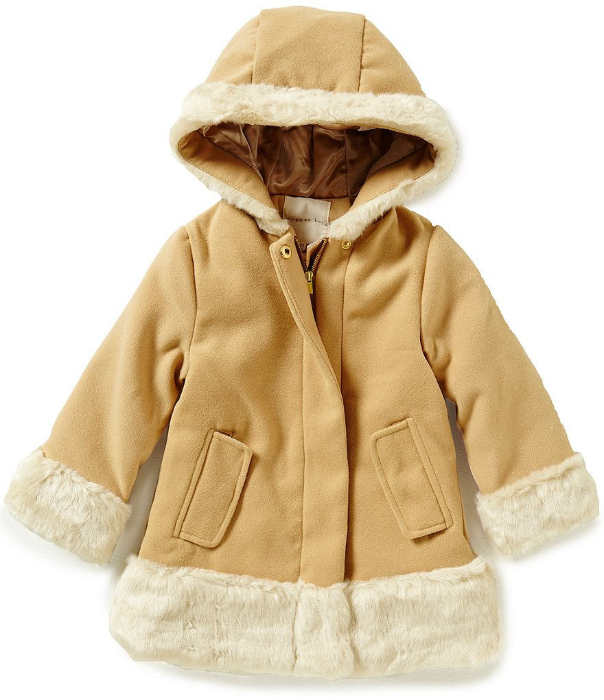 Copper Key Little Girls 2T-6X Faux-Wool Jacket