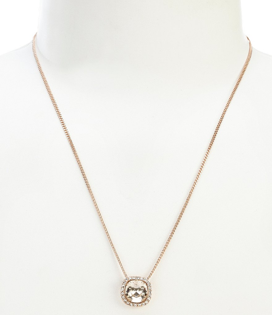 Givenchy Cushion Cut Pendant Necklace