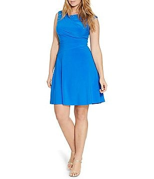 Lauren Ralph Lauren Plus Ruched Jersey Dress