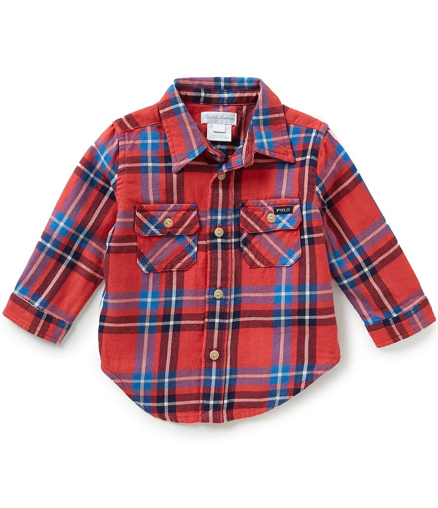 Ralph Lauren Childrenswear Baby Boys 3-24 Months Plaid Work Shirt
