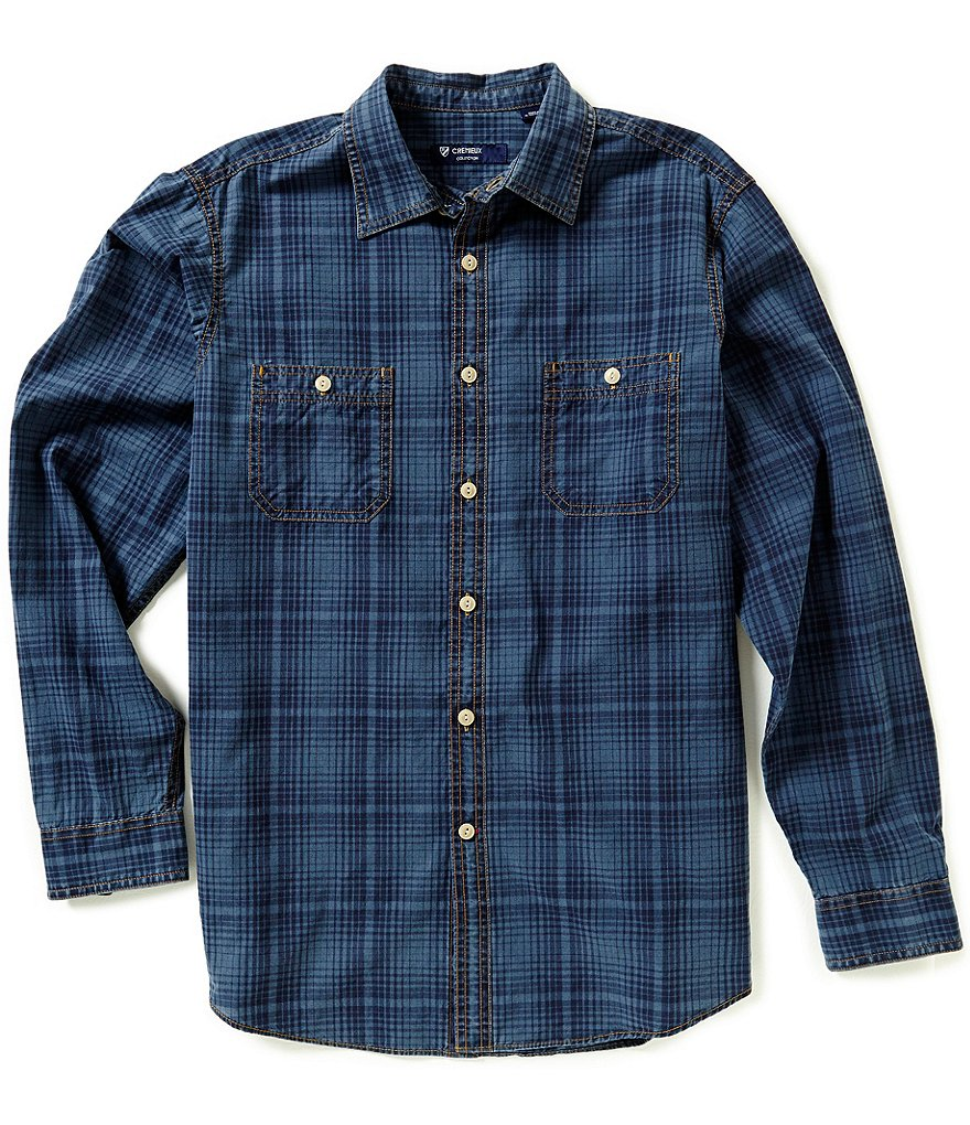 Cremieux Grandeur Nights Collection Long-Sleeve Plaid Woven Shirt