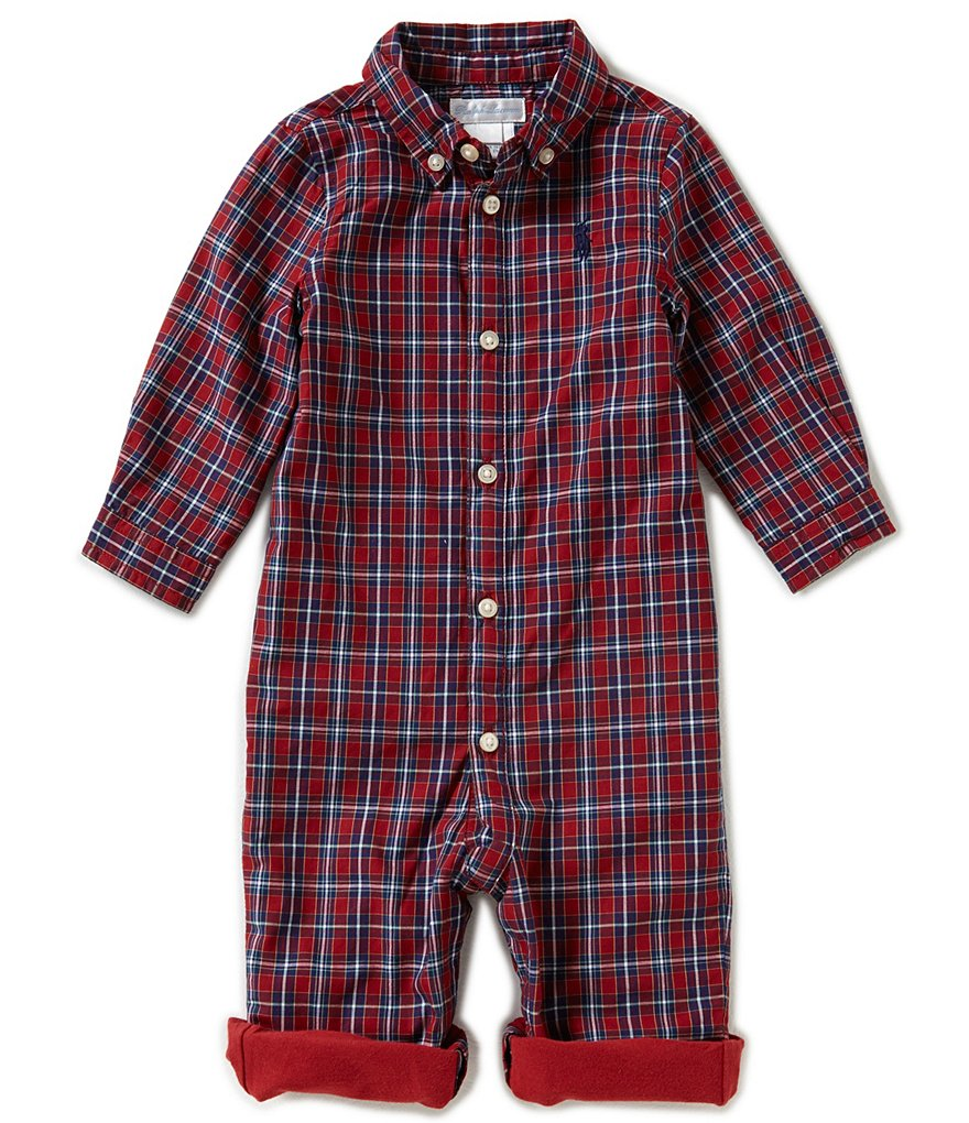 Ralph Lauren Childrenswear Baby Boys 3-12 Months Plaid Coverall