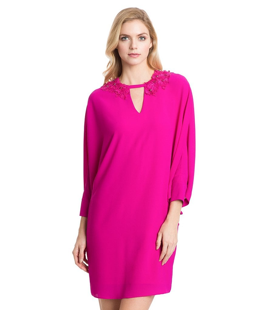 Belle Badgley Mischka Payton Keyhoe Neck Caftan Dress