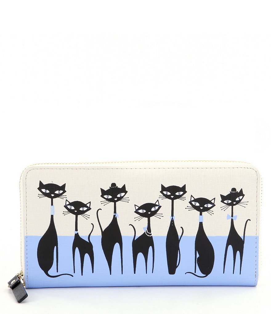 kate spade new york Jazz Things Up Collection Lacey Cats Continental Wallet
