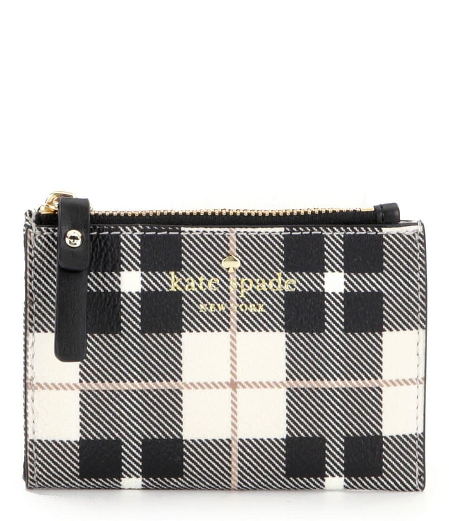 kate spade new york Fairmount Square Collection Cori Plaid Zip Coin Case