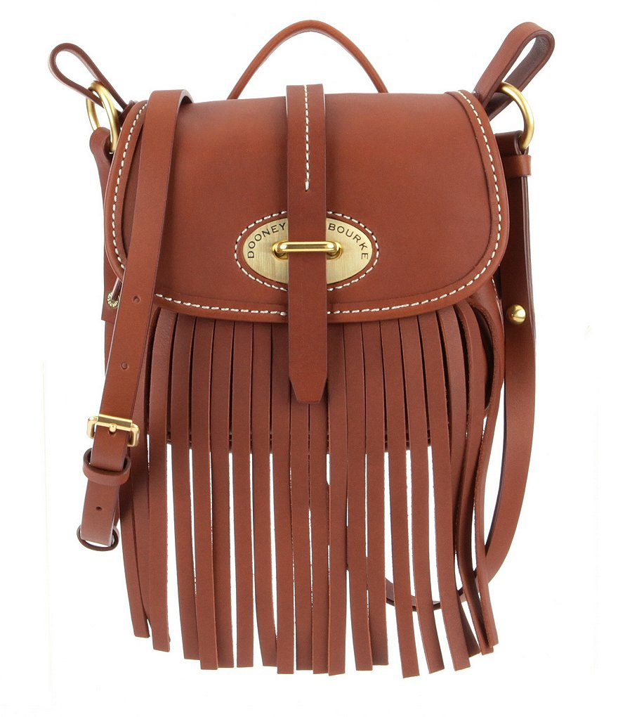 Dooney & Bourke Fringe Collection Small Fiona Top Handle Saddle Bag