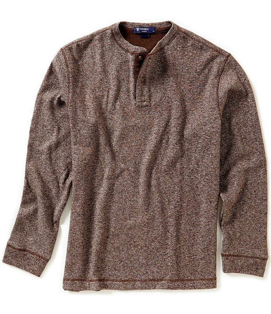 Cremieux Double-Face Long Sleeve Henley Shirt