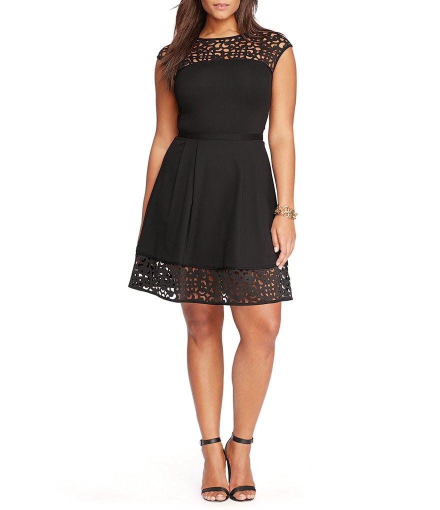 Lauren Ralph Lauren Plus Laser Cutout Ponte Dress