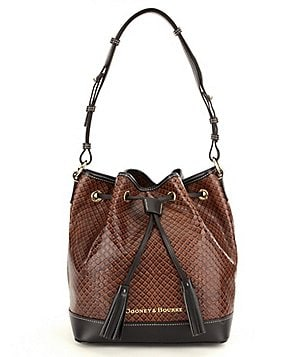 Dooney & Bourke Cordova Collection Tasseled Drawstring Bucket Bag