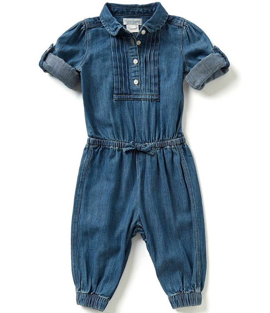 Ralph Lauren Childrenswear Baby Girls 3-24 Months Denim Romper
