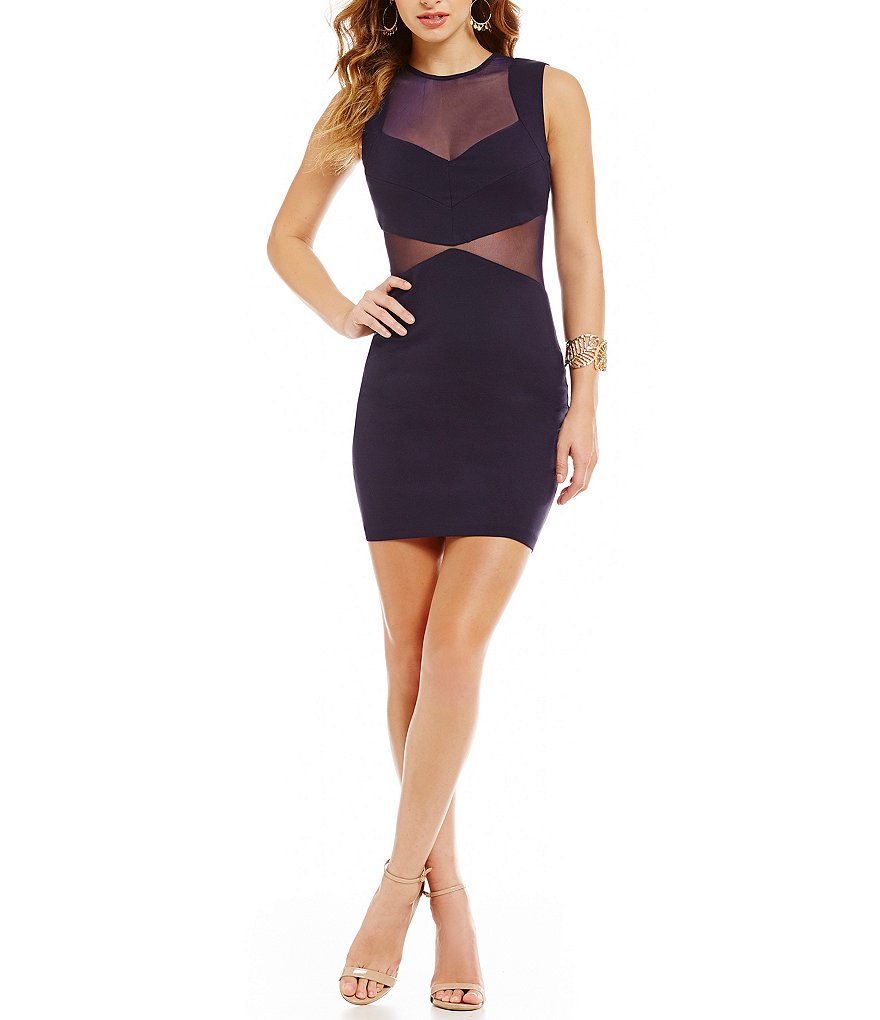 B. Darlin Illusion Sheath Dress