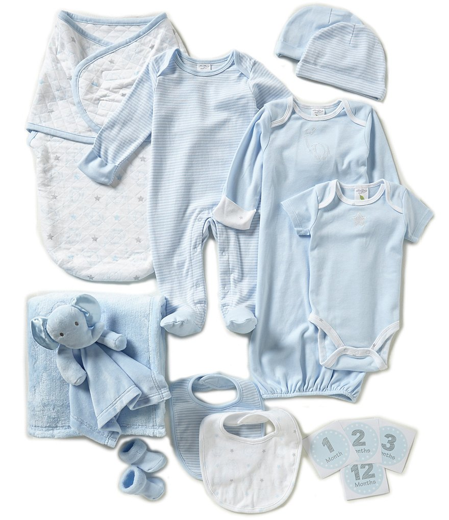 Starting Out Blue Baby Boys 12-Piece Layette Gift Box Set
