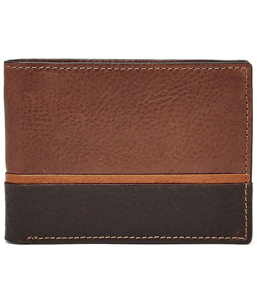 Fossil Ian Leather Front Pocket Bifold