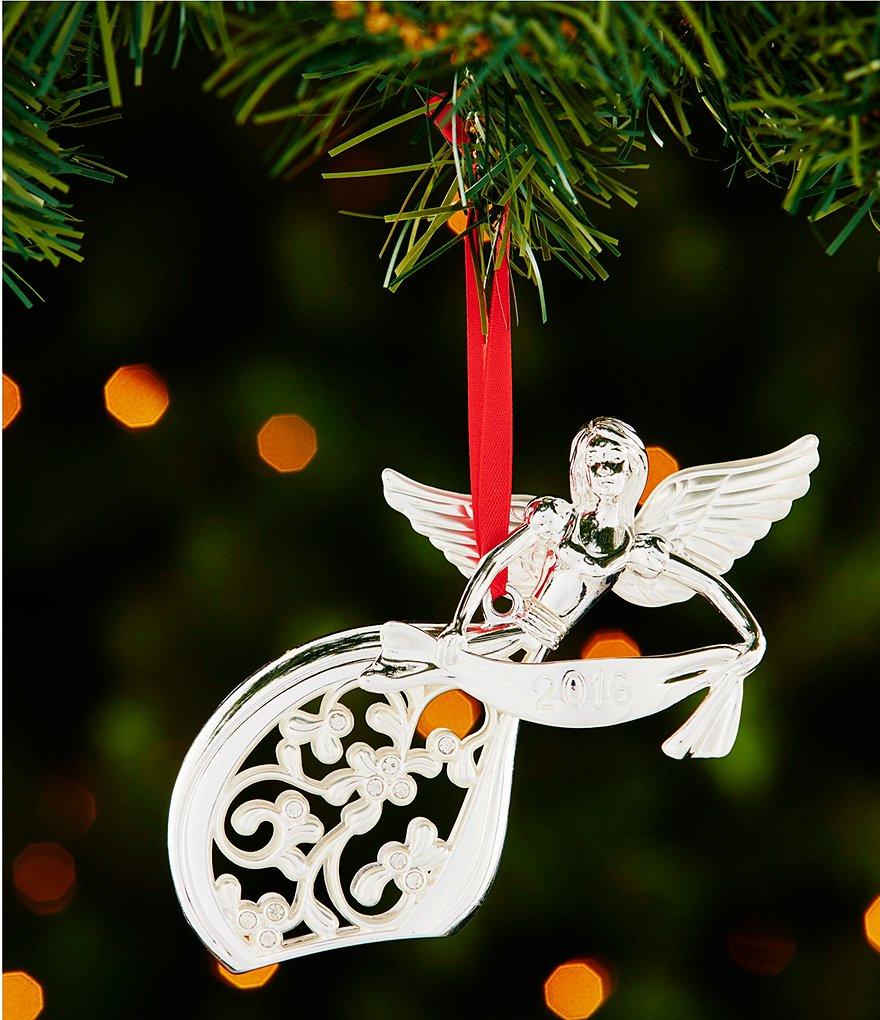 Lenox 2016 3rd-Edition Silver Angel Ornament