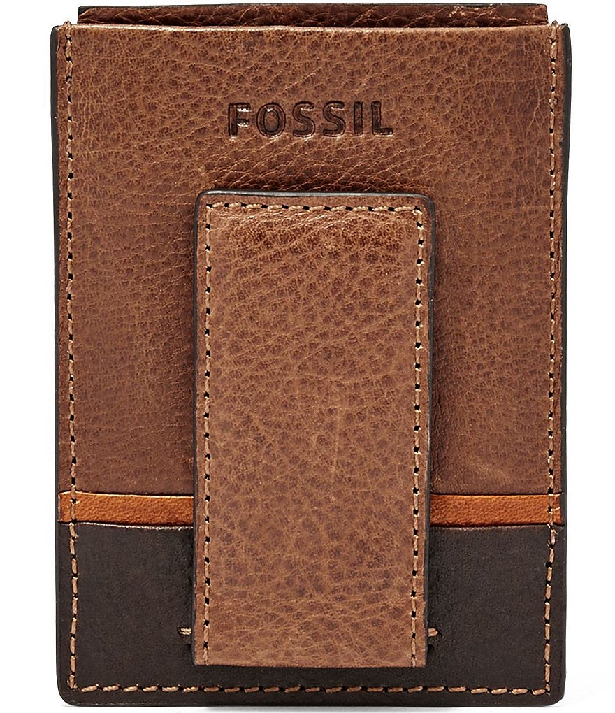 Fossil Ian Leather Magnetic Card Case