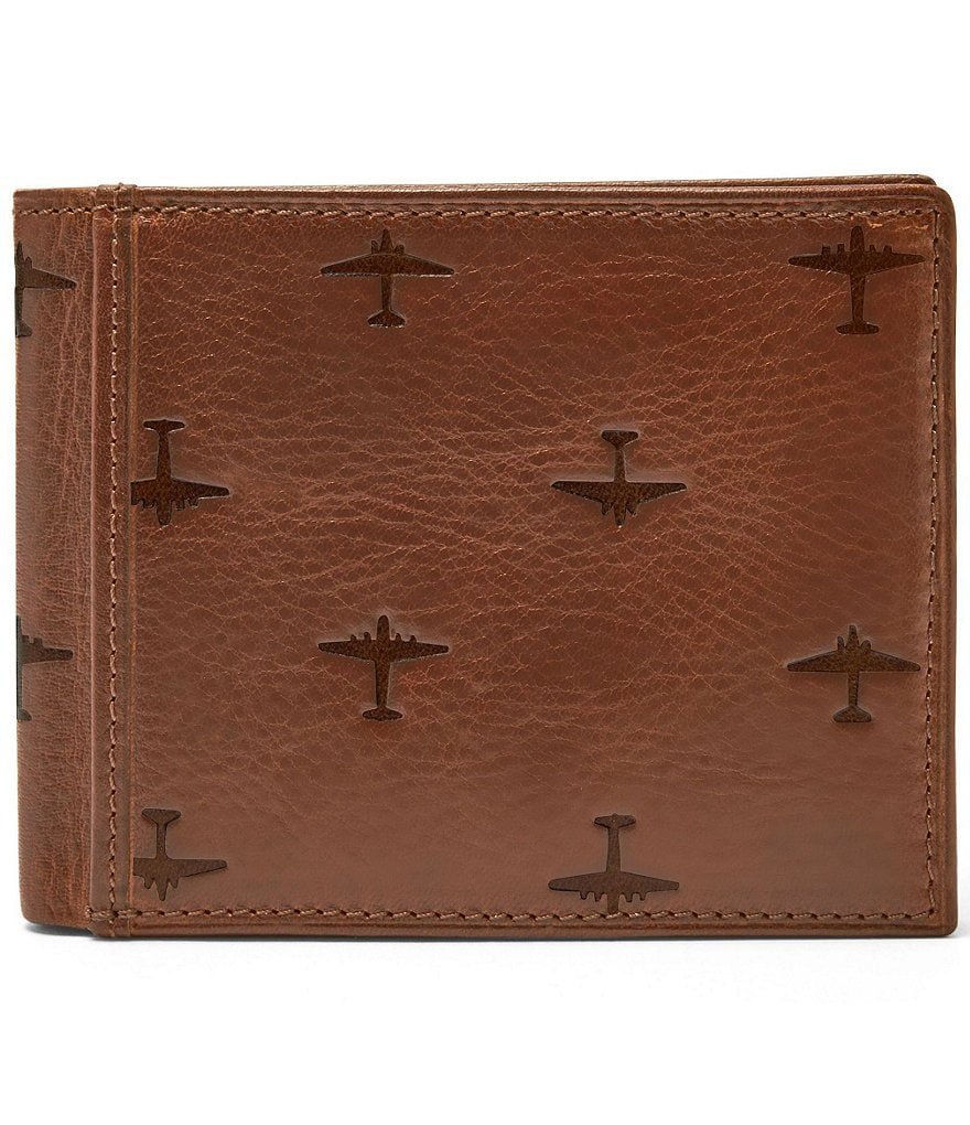Fossil Pilot Leather Bifold with Flip ID Wallet